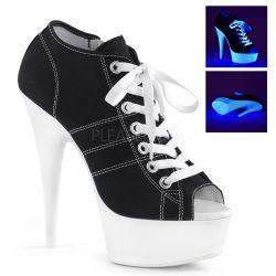Zapatos de lona estilo deportivas con plataforma reactiva a la luz UV