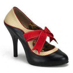 Zapato bicolor lazo en empeine