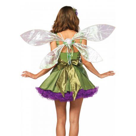 Alas de duende transparente decoradas con purpurina verde