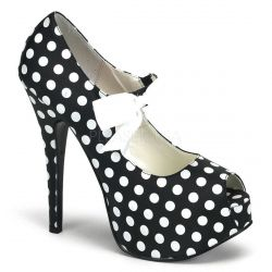 Zapatos Bordello con estampado de lunares