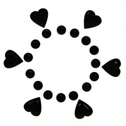 Decoración adhesiva para los pezones corazón