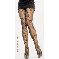 Pantys a la cintura con efecto leopardo.