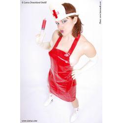 Delantal de látex para enfermera