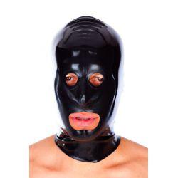 Mascara de látex con cierre cremallera