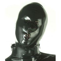 Mascara de látex con orificios y cierre cremallera