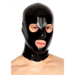 Mascara de látex con orificios y cremallera