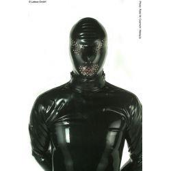 Mascara de látex con perforaciones