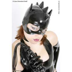 Mascara de látex gato con cresta