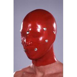 Mascara de látex anatómica con taches