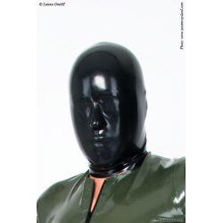 Mascara de látex sin orificios