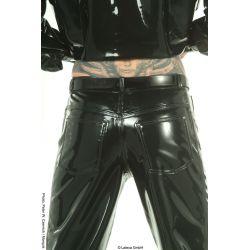 Pantalones de látex simil vaqueros