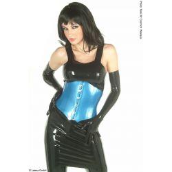 Vestido corto de látex