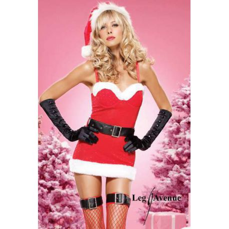 Disfraz fantasía de vestido de navidad