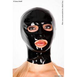 Mascara de látex anatómica y cremallera