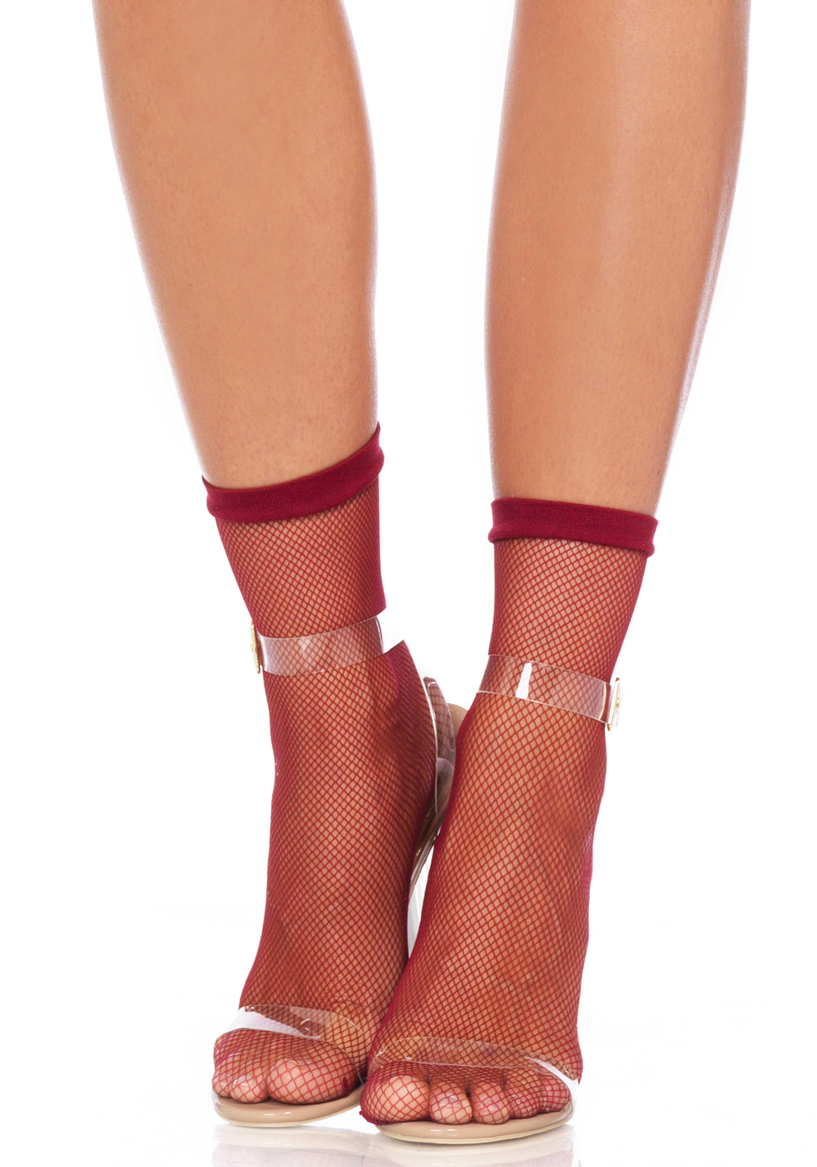 fe4e5c901 Calcetines cortos Leg Avenue de fina redecilla transparente y elásticos