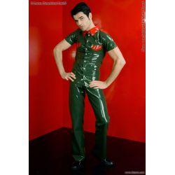 Camisa de látex simil uniforme