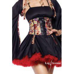 Vestido fantasía de geisha con corsé y mangas acampanadas