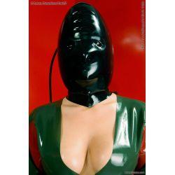Mascara de látex anatómica inflable