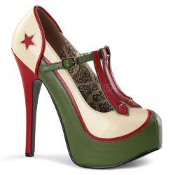 """Coquetos zapatos """"Teeze de Bordello"""" con diseño militar"""