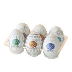 Pack de 6 huevos masturbador con diferentes texturas