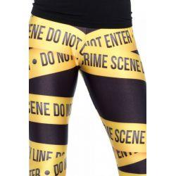 """Leg Avenue Leggings de fantasía con diseño de """"Escena del Crimen"""""""