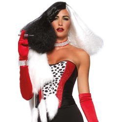 Leg Avenue peluca de Diva del Disco pelo largo sintético en dos tonos