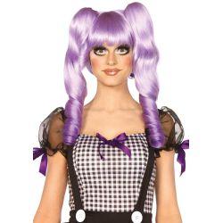 Leg Avenue peluca de fantasía muñeca de trapo con coletas extraibles