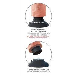 """Vibrador """"King Cock"""" strap-on realísta de 18 cm con ventosa y testículos"""