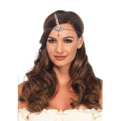 Cadena para el cabello similar a una tiara con cuerno de unicornio