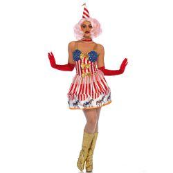 Disfraz Leg Avenue 3 pcs de payaso carrusel de circo con bandera de EEUU