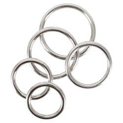 Set 5 anillas de acero inoxidable para el pene diámetros de 3,1 a 5 cm