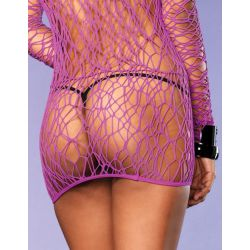 Mini vestido de color púrpura de LEG AVENUE