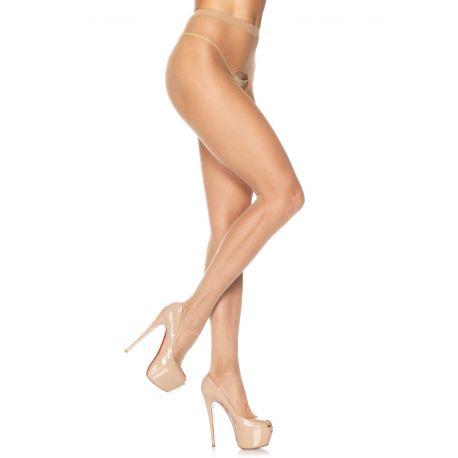 Pantys ultrafinos a la cintura con entrepierna abierta