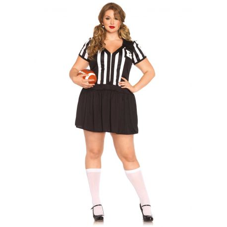 49c32345a5c Leg Avenue disfraz de arbitro de futbol de 1 pieza hasta talla XXXL