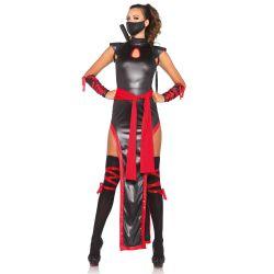 Leg Avenue disfraz sexy de la sombra del ninja compuesto por 5 piezas