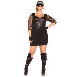 Disfraz sexy Leg Avenue de oficial del SWAT de 5 piezas hasta XXXL