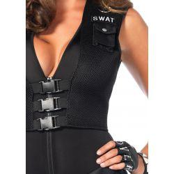 Disfraz sexy Leg Avenue de comandante del SWAT compuesto de 5 piezas