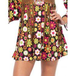 Leg Avenue disfraz chica hippie y Flower-Power años 70 de 2 piezas