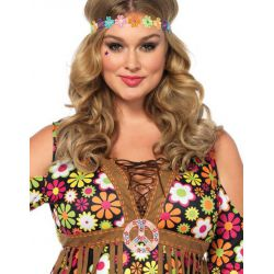 Leg Avenue disfraz chica hippie Flower-Power años 70 hasta talla XXXL
