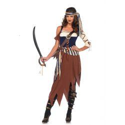 Disfraz Sexy Leg Avenue de Pirata de los Mares de 4 piezas