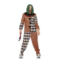 Disfraz de hombre 2 piezas para carnaval de payaso de circo espeluznante