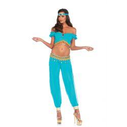 Disfraz Sexy Leg Avenue de Belleza Árabe del Desierto de 3 piezas
