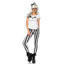 Disfraz Sexy Leg Avenue de esqueleto hipster de 4 piezas