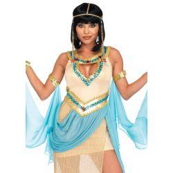 Leg Avenue Disfraz de carnaval de reina egipcia Cleopatra de 3 piezas