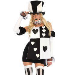 Uniforme disfraz de Leg Avenue de conejito blanco de Alicia Wonderland