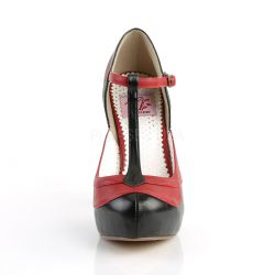 Zapatos americanos Pin Up Couture en 2 tonos con correa al frente en T