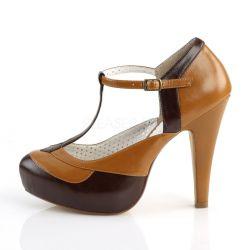 Zapatos americanos Pin Up Couture en 2 tonos con correa al frente en T