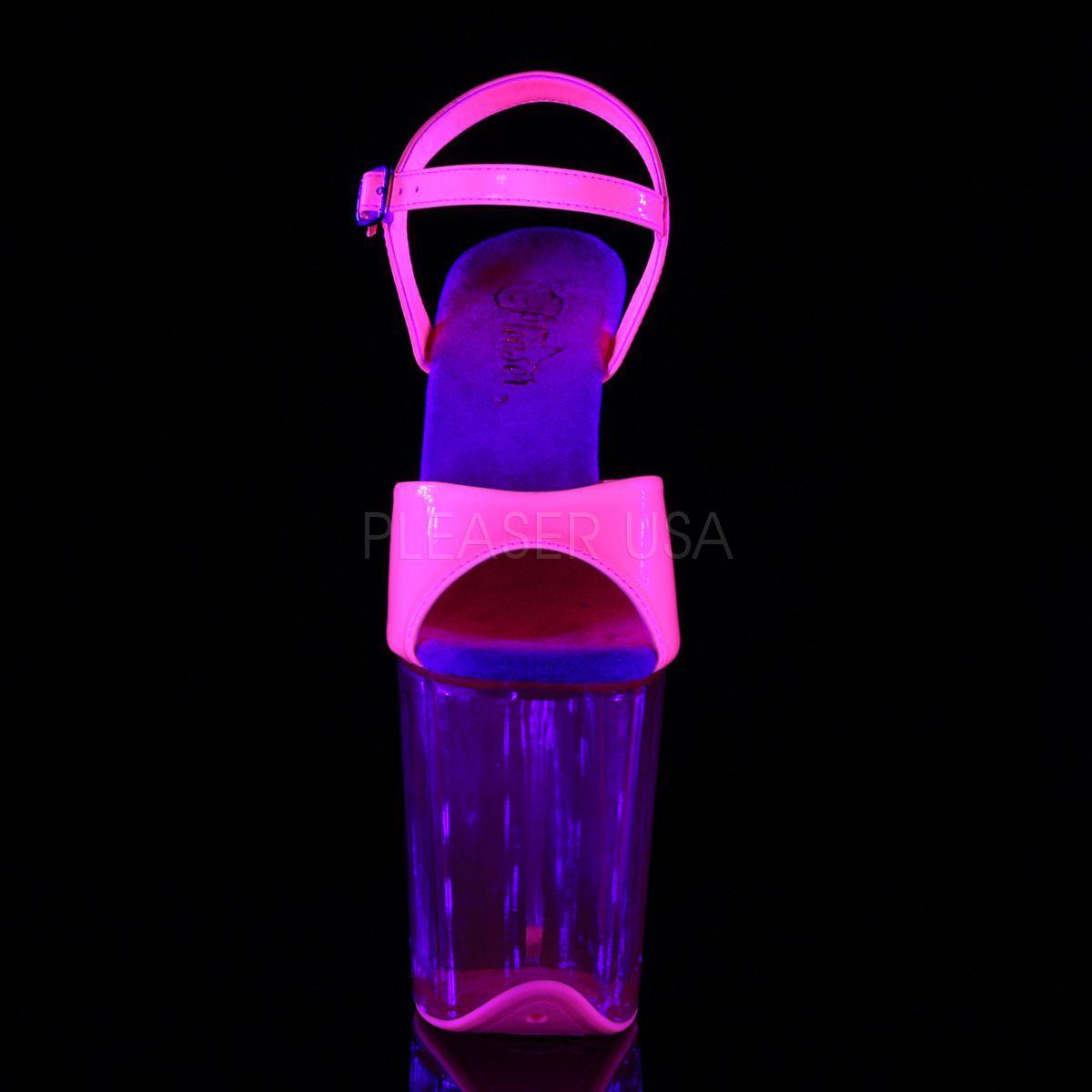 Sandalias FLAMINGO plataforma extra-alta de 8 pulgadas y efecto neon