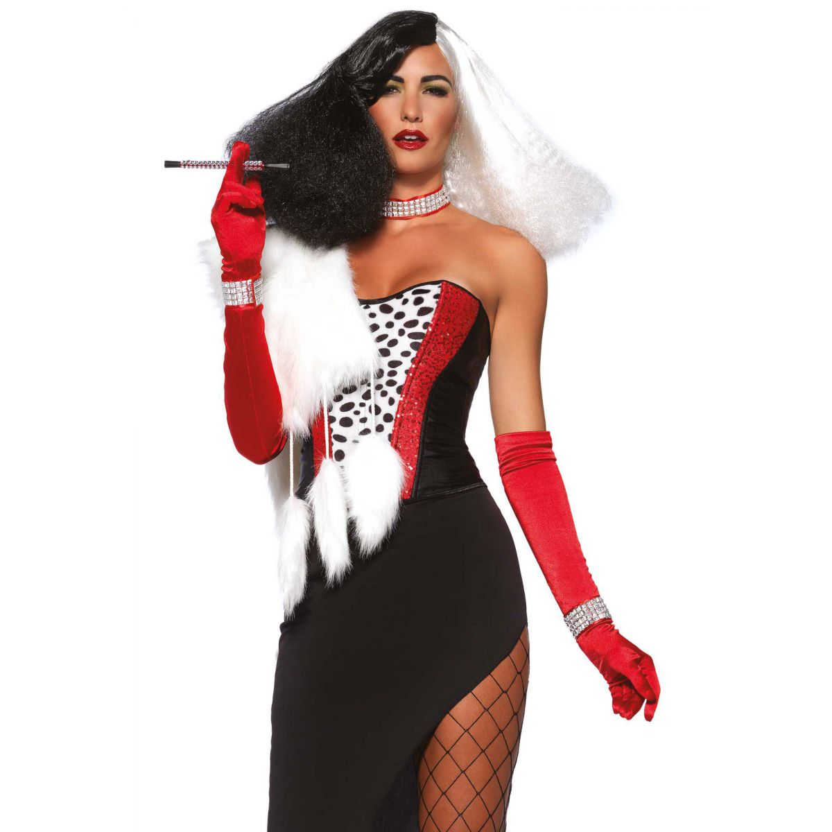 Leg Avenue disfraz sexy cruel diva 101 dálmatas compuesto de 5 piezas