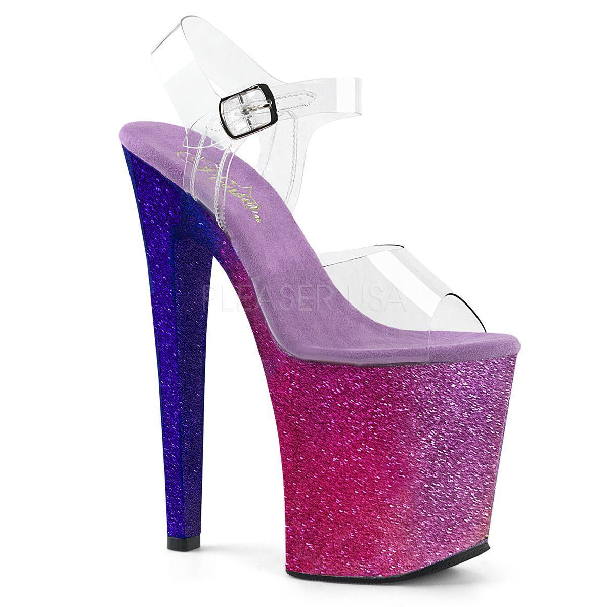 Sandalias Pole Dance XTREME con purpurina brillante efecto degradado